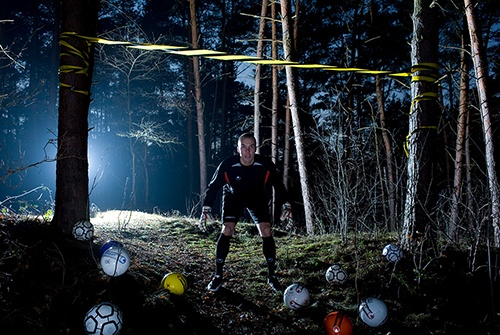 Robert Enke beim uhlsport Shooting