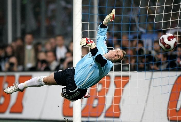Robert Enke bei seinem Debüt im Tor der deutschen Nationalmannschaft