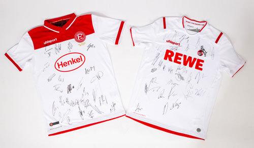 Fortuna und Köln Trikot signiert