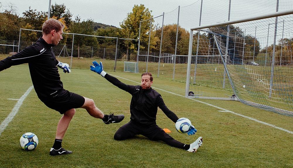 Michael Rechner und Oliver Baumann beim Training