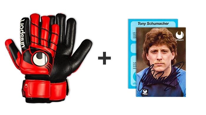 Fangmaschine Handschuhe + Autogrammkarte