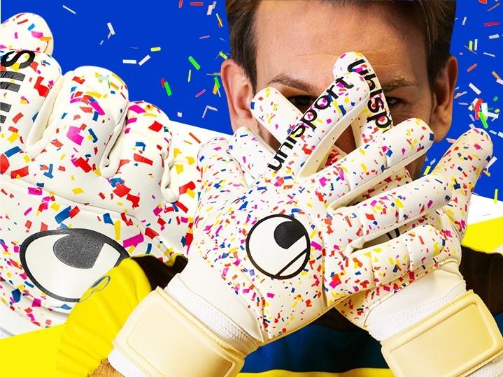 uhlsport Karnevalhandschuh getragen von Thomas Kessler