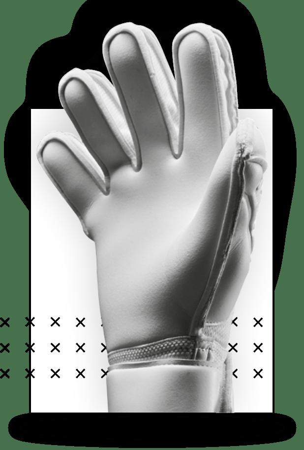 uhlsport CLASSIC CUT für Torwarthandschuhe in der Makroaufnahme