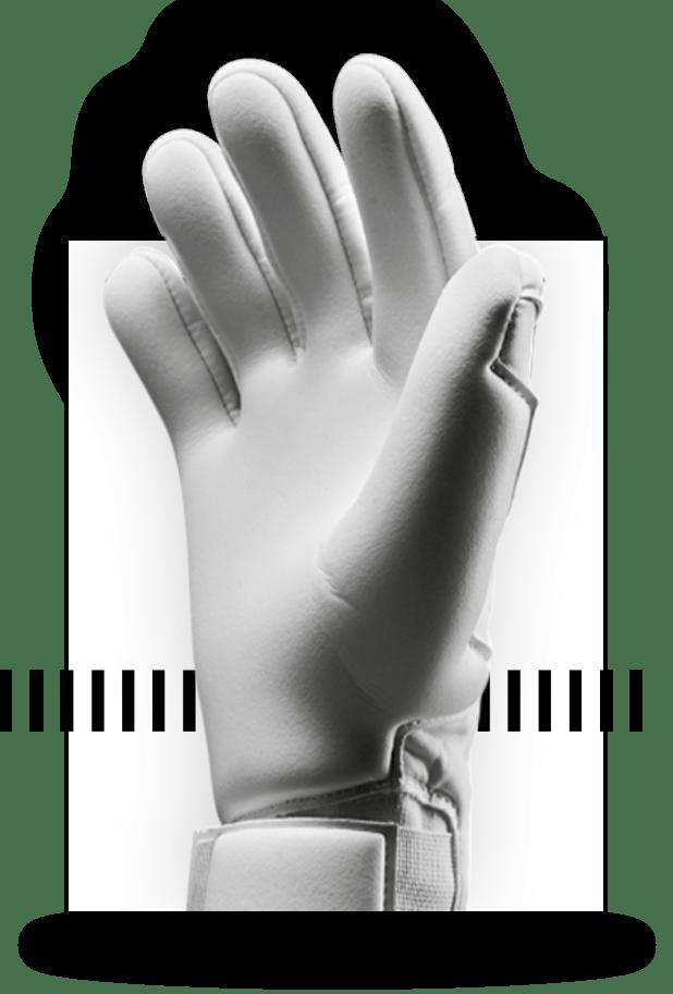 uhlsport REFLEX CUT für Torwarthandschuhe in der Makroaufnahme