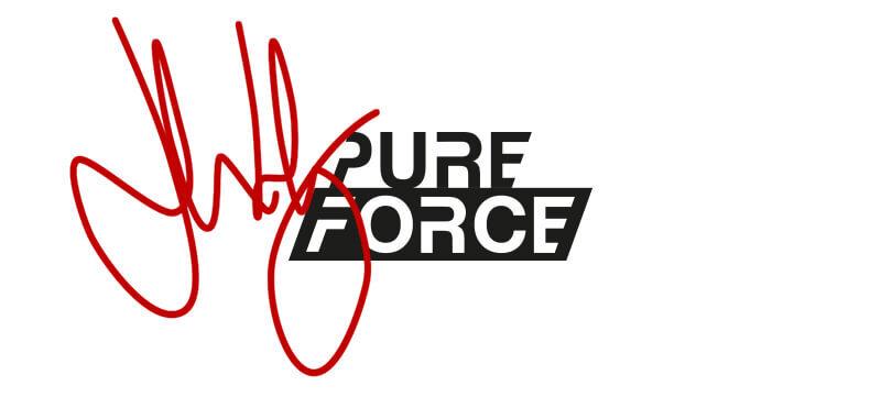 uhlsport PURE FORCE Torwarthandschuhe unterschrieben von Lukas Hradecky